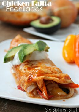 Chicken Fajita Enchiladas