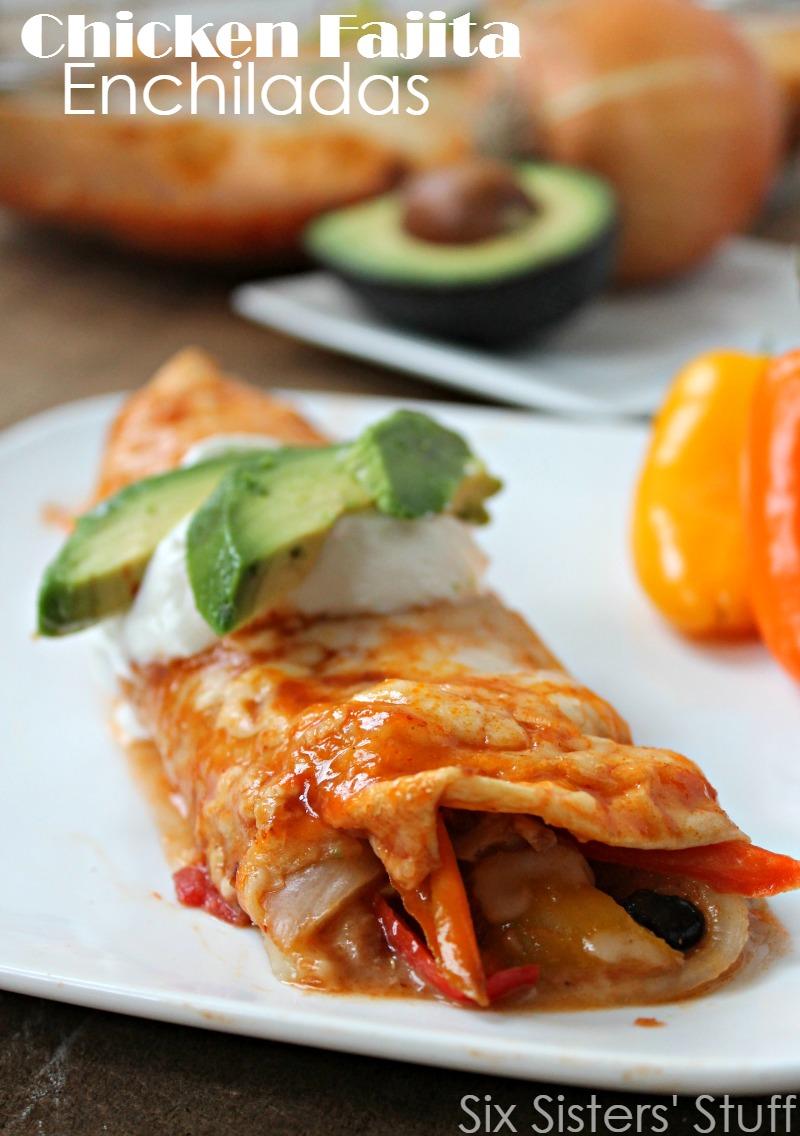 Chicken Fajita Enchiladas