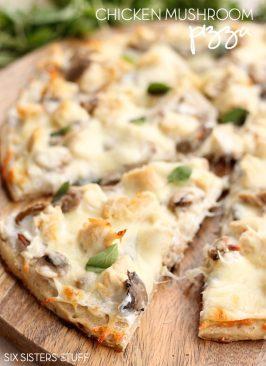 Chicken Mushroom Pizza
