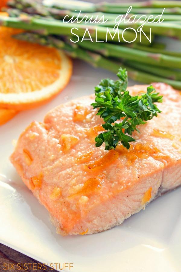 Citrus Glazed Salmon from Six Sisters' Stuff