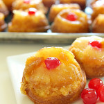Mini Pineapple Upside-Down Cakes on SixSistersStuff