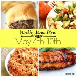may 4th menu plan collage