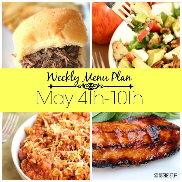 may 4th menu plan collage