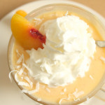peaches and coconut cream smoothie