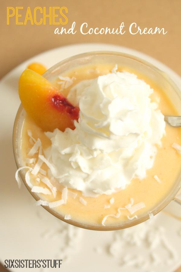 peaches and coconut cream smoothie