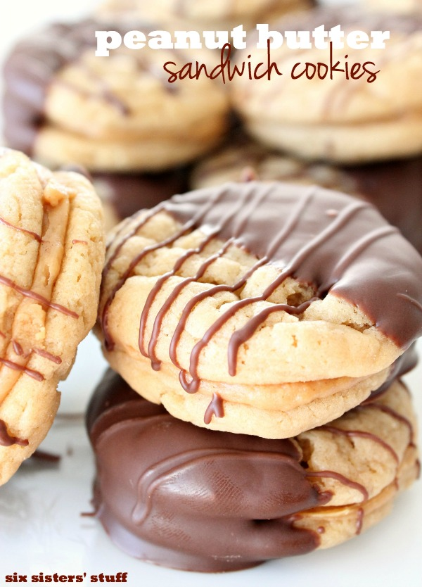 Dipped Peanut Butter Sandwich Cookies