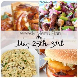 Weekly Menu Plan May 25th-31st