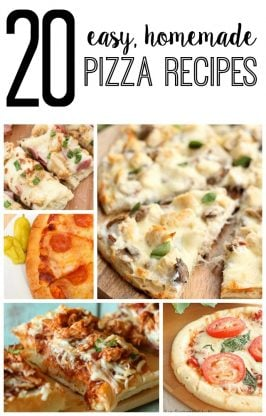 20 Easy Homemade Pizza Recipes