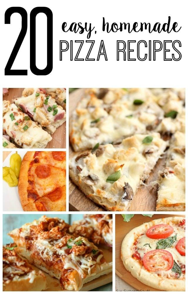 20 Easy Homemade Pizza Recipes
