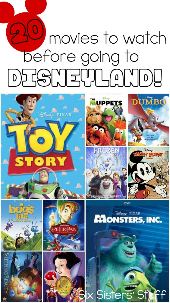 20 movies to watch before going to Disneyland!  SixSistersStuff.com