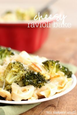 Cheesy Ravioli Bake
