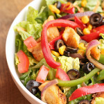 Fajita Salad Recipe from Six Sisters' Stuff