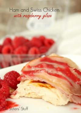 Ham and Swiss Chicken with Raspberry Glaze