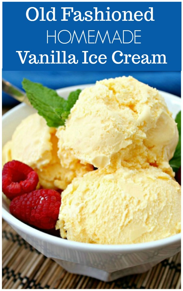 how to make vanilla ice cream - creamy homemade ice cream with raspberries