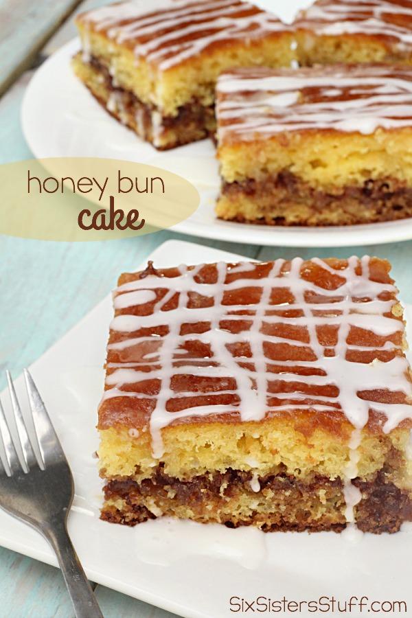 Honey Bun Cake on SixSistersStuff.com