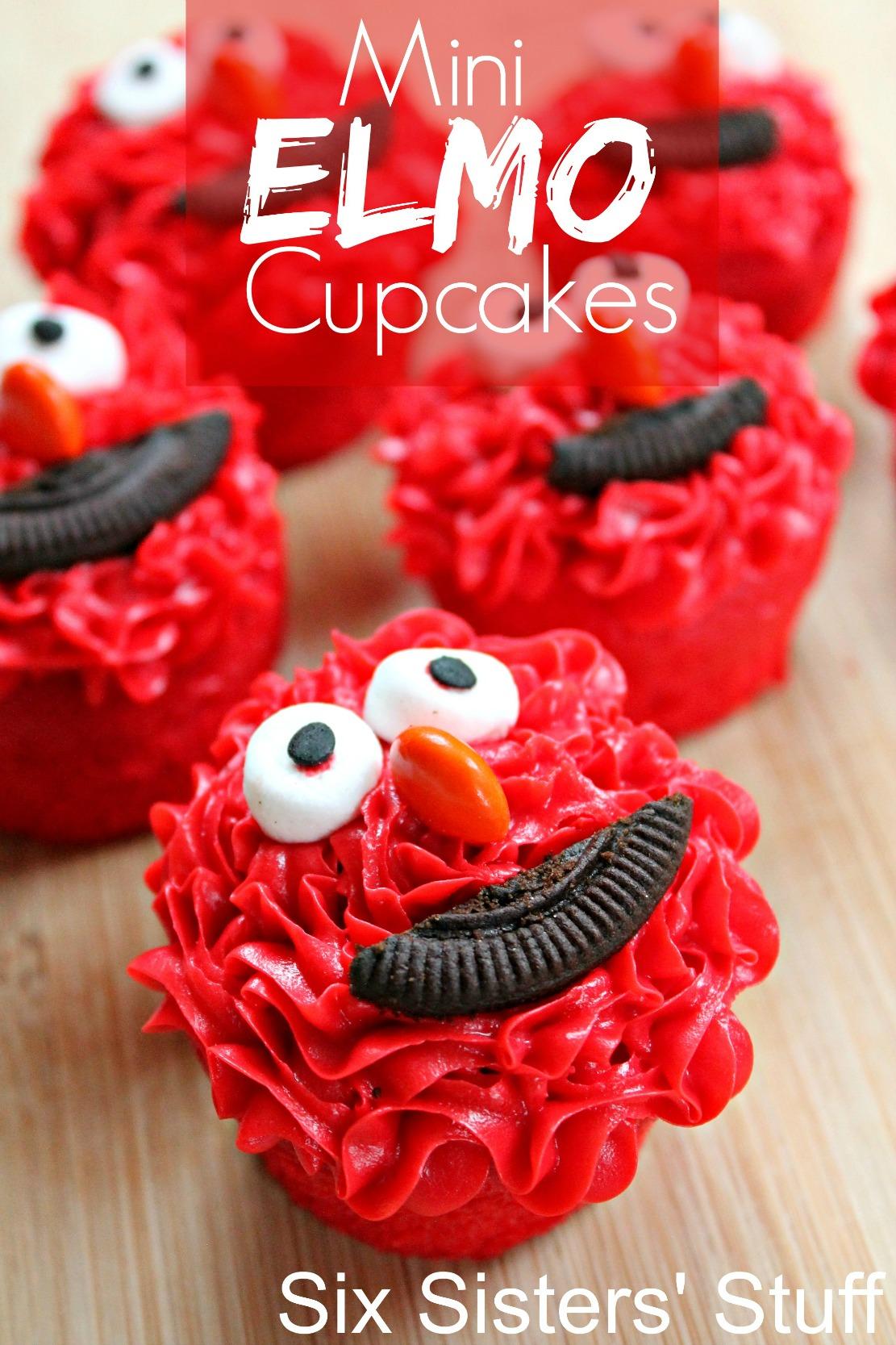 Mini Elmo Cupcakes 1