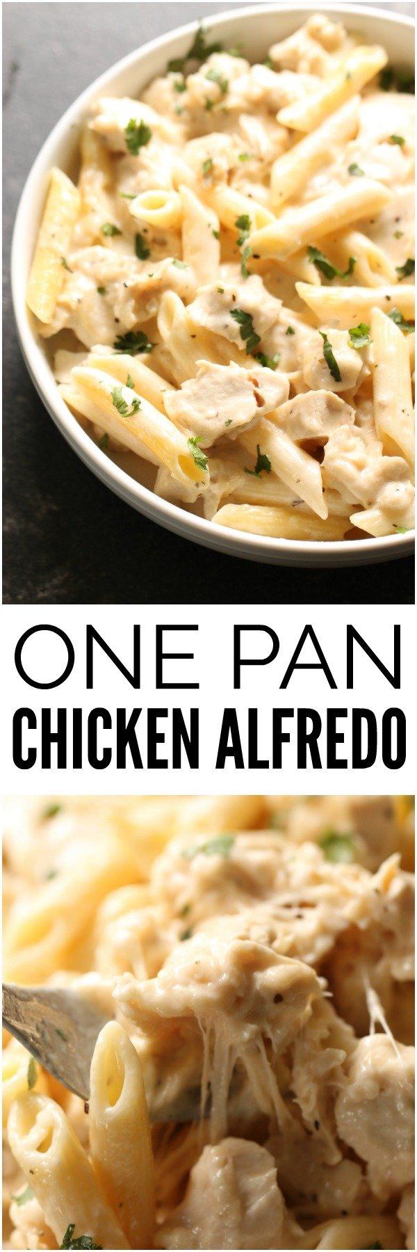 One Pan Chicken Alfredo