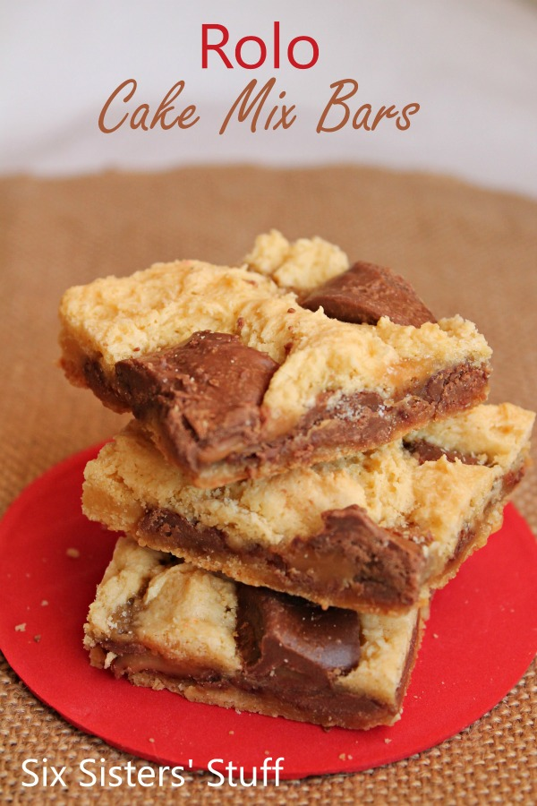Rolo Cake Mix Bars Recipe
