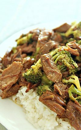 Chinese beef and broccoli made in crock pot