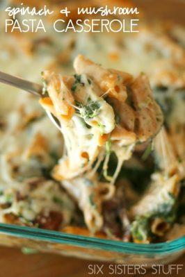Spinach and Mushroom Pasta Casserole Recipe