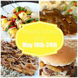 Weekly Menu Plan May 18th-24th