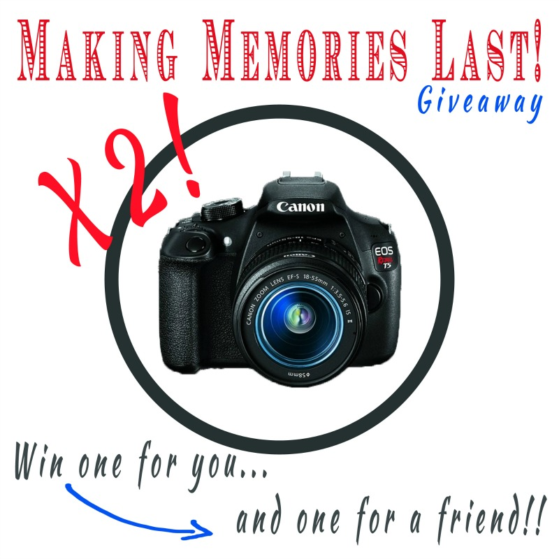 Canon DSLR Camera Giveaway (x2!)