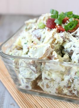 Guacamole and Bacon Potato Salad
