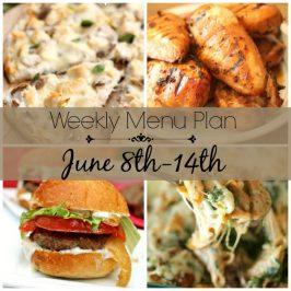 Weekly Menu Plan June 8th-14th