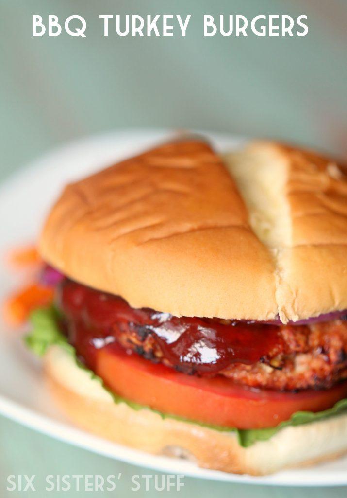 Bbq Turkey Burgers Recipe Six Sisters Stuff