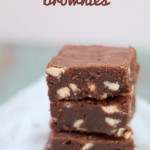 Fudgy White Chocolate Chip Brownies