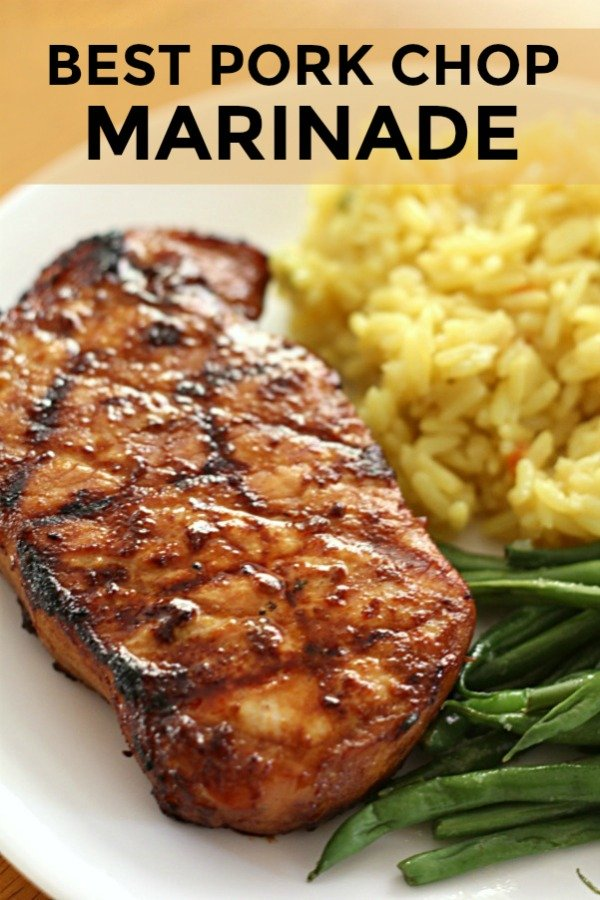 grilled pork chops made with best pork chop marinade