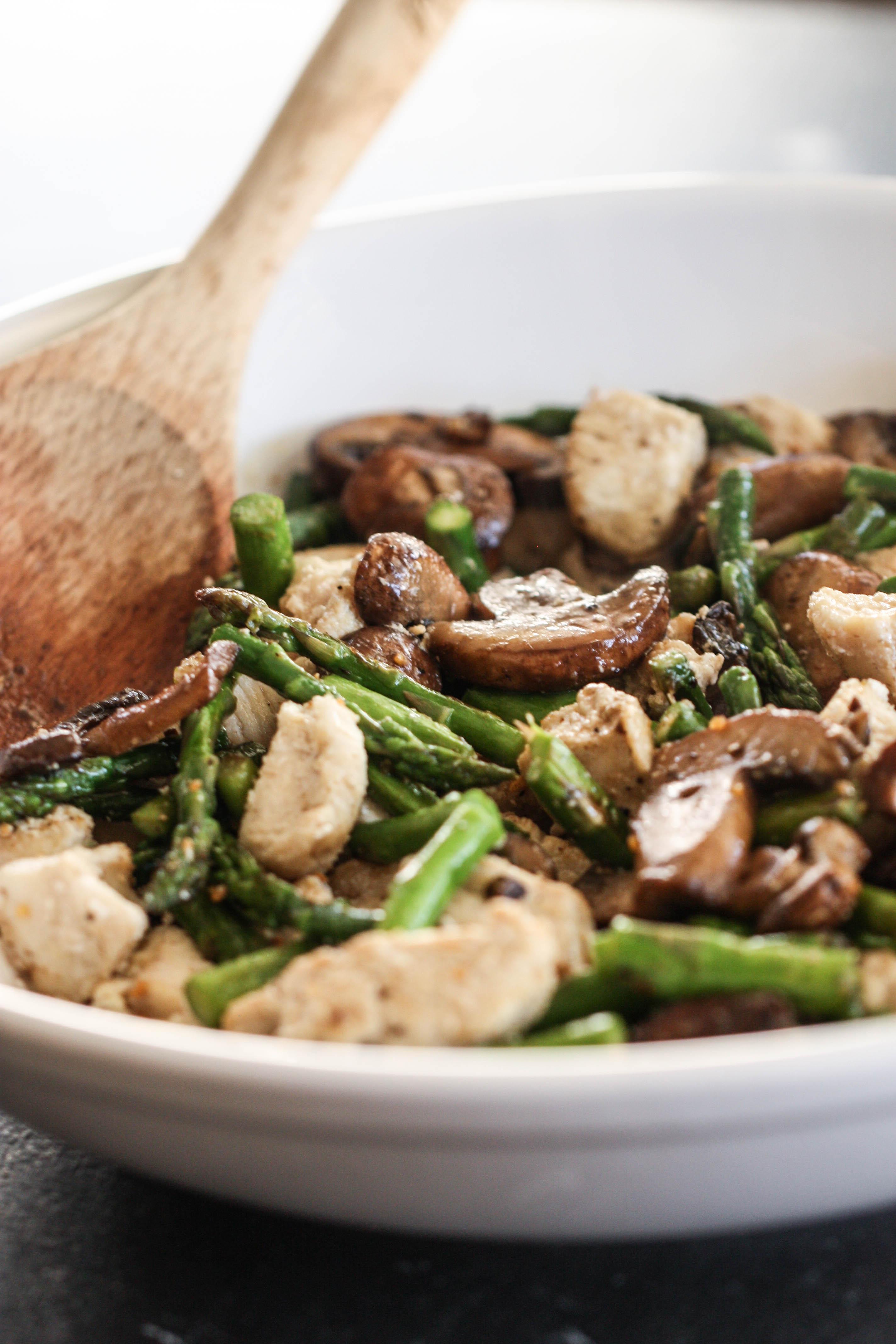 Mushroom Asparagus Chicken Stir Fry Recipe