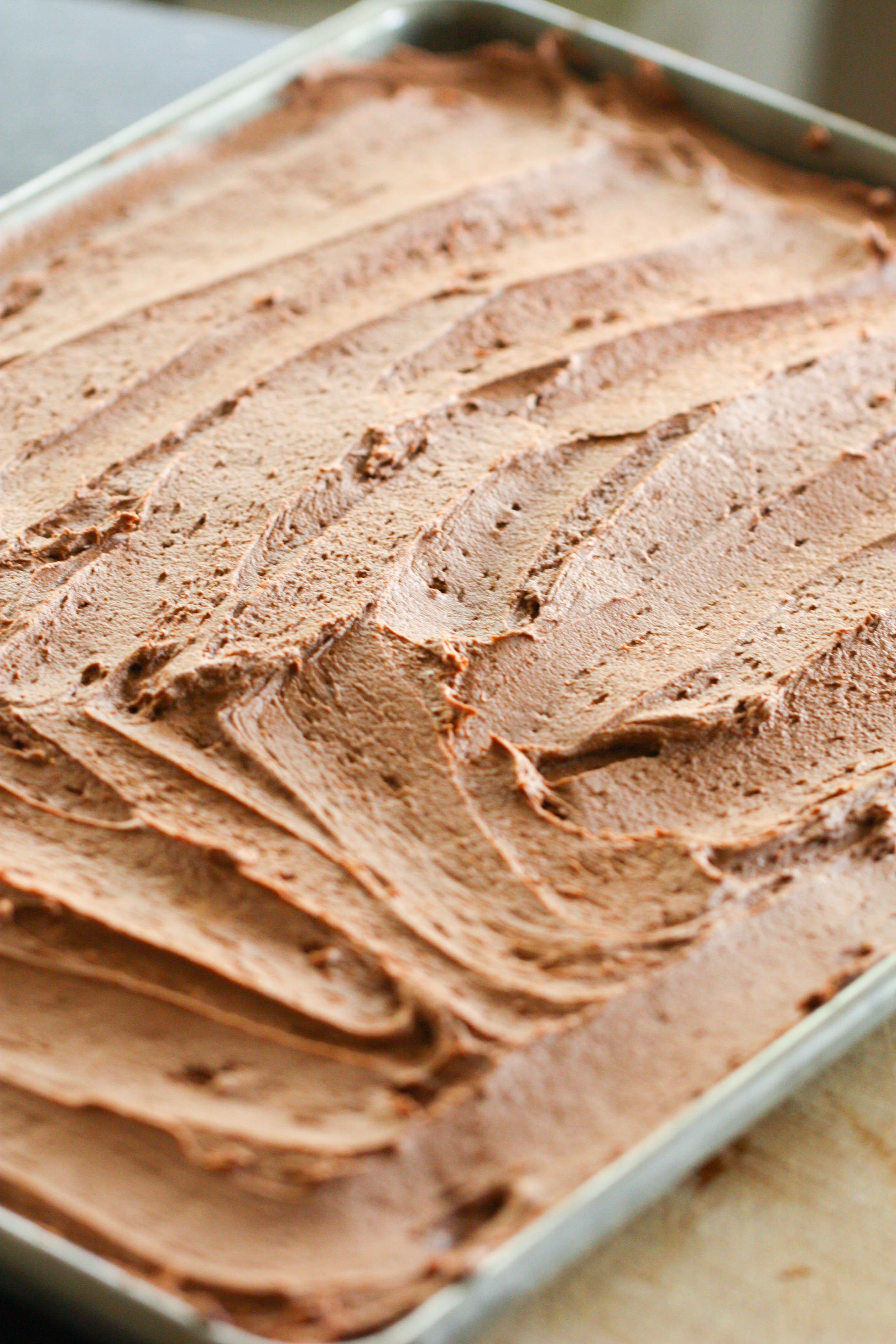 Sheet pan of Chocolate Sugar Cookie Bars