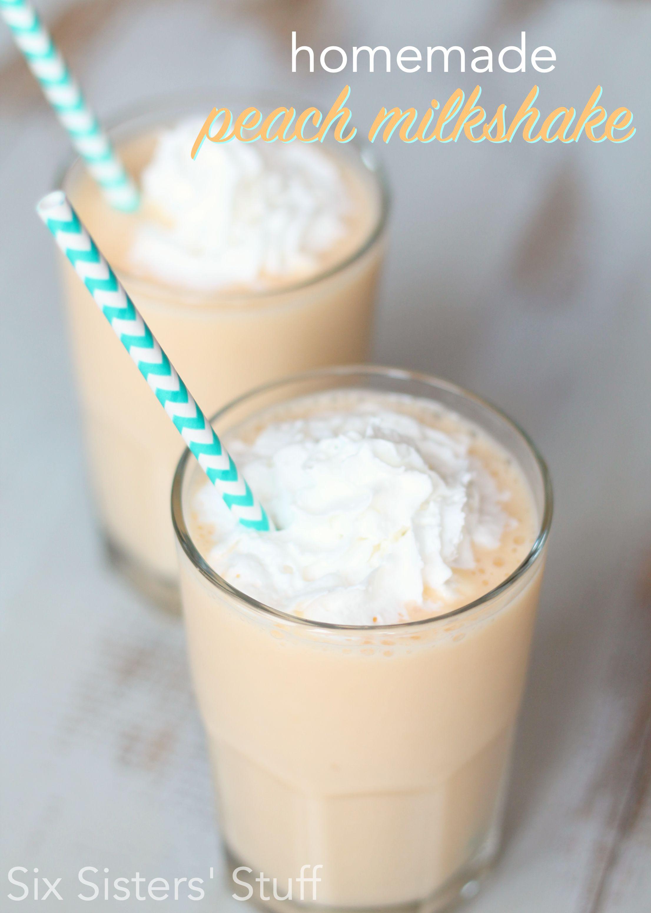 Homemade Fresh Peach Milkshake Recipe