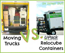 Moving Trucks Vs. U-Pack Relocube Containers