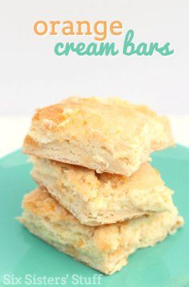 Orange Cream Cheese Bars Recipe
