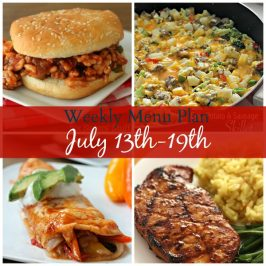 Weekly Menu Plan July 13-19th