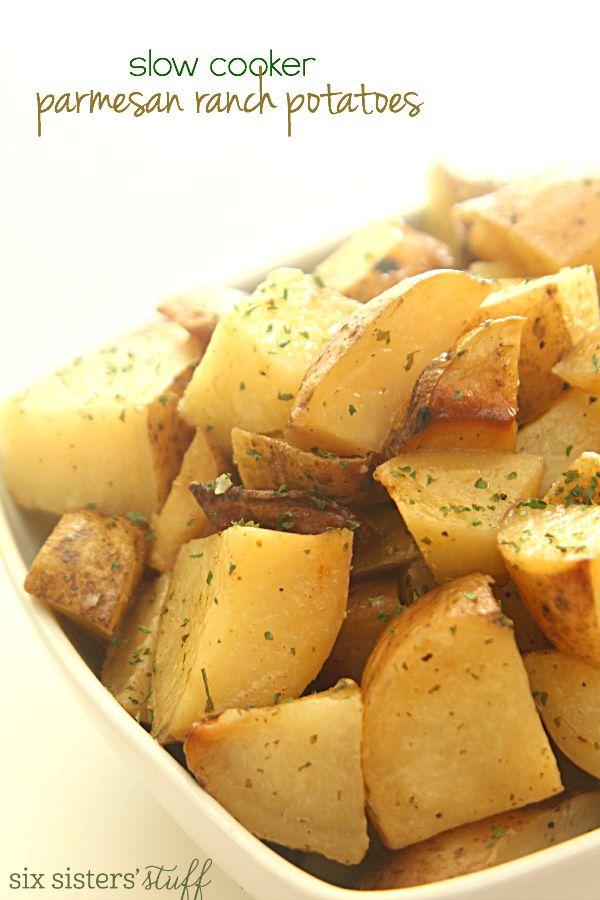 Slow Cooker Parmesan Ranch Potatoes