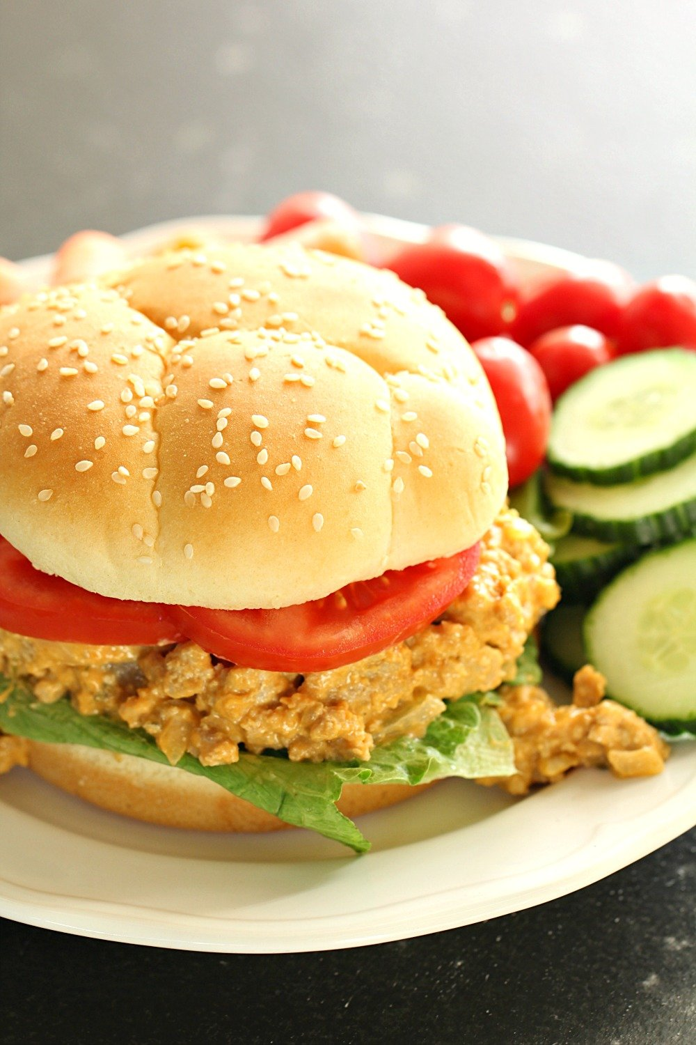 Slow Cooker Cheesy Turkey Burger Joes