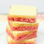 Strawberry Lemonade Cake Mix Bars from SixSistersStuff.com