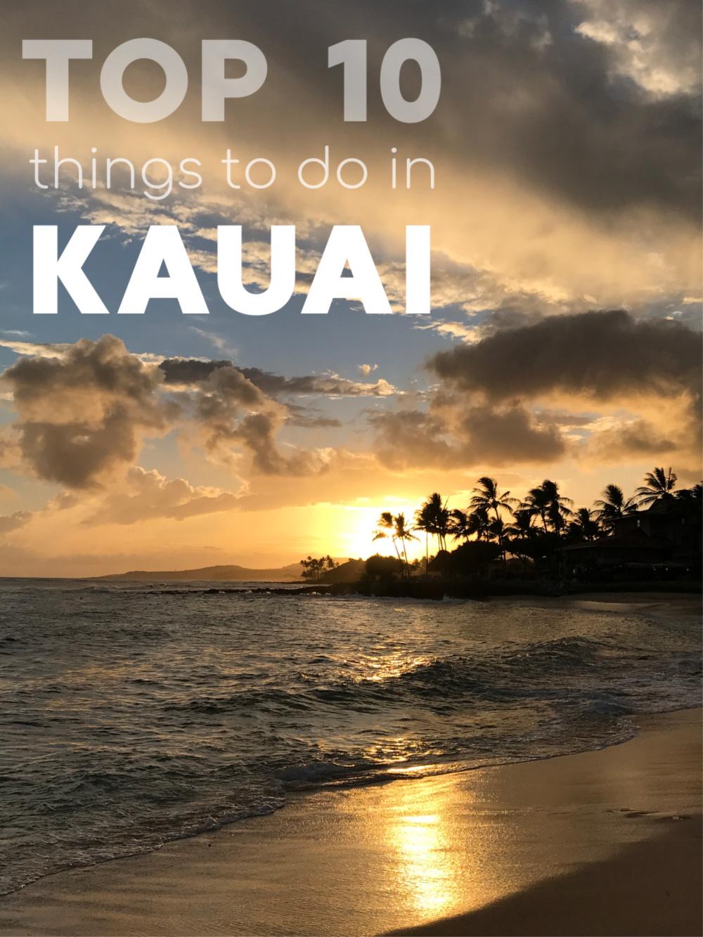Top 10 Things to do in Kauai