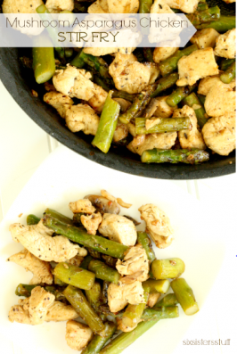 Mushroom Asparagus Chicken Stir Fry