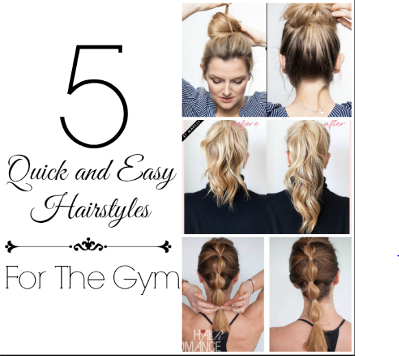 5 Quick and Easy Hairstyles for the Gym | Six Sisters\' Stuff