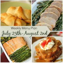 Weekly Menu Plan July 27th-August 2nd