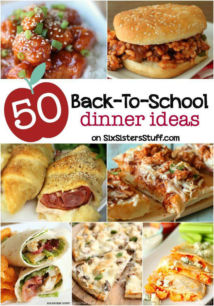 50 Back to School Dinner Ideas