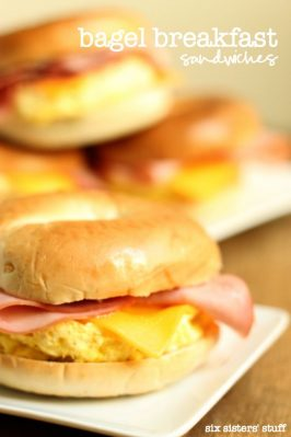 Bagel Breakfast Sandwiches (Freezer Meal)