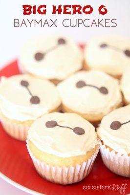 Big Hero 6 Easy Baymax Cupcakes