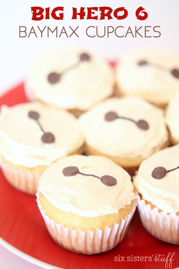 Big Hero 6 Easy Baymax Cupcakes