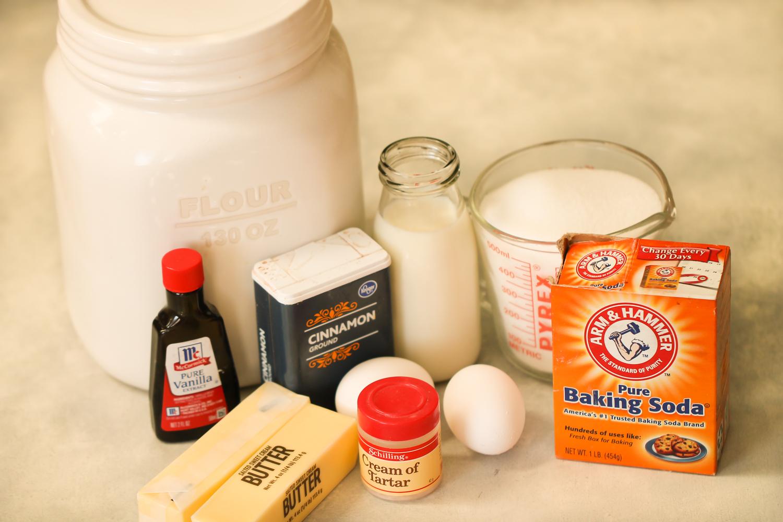 Ingredients for Disneyland Snickerdoodle Cookies