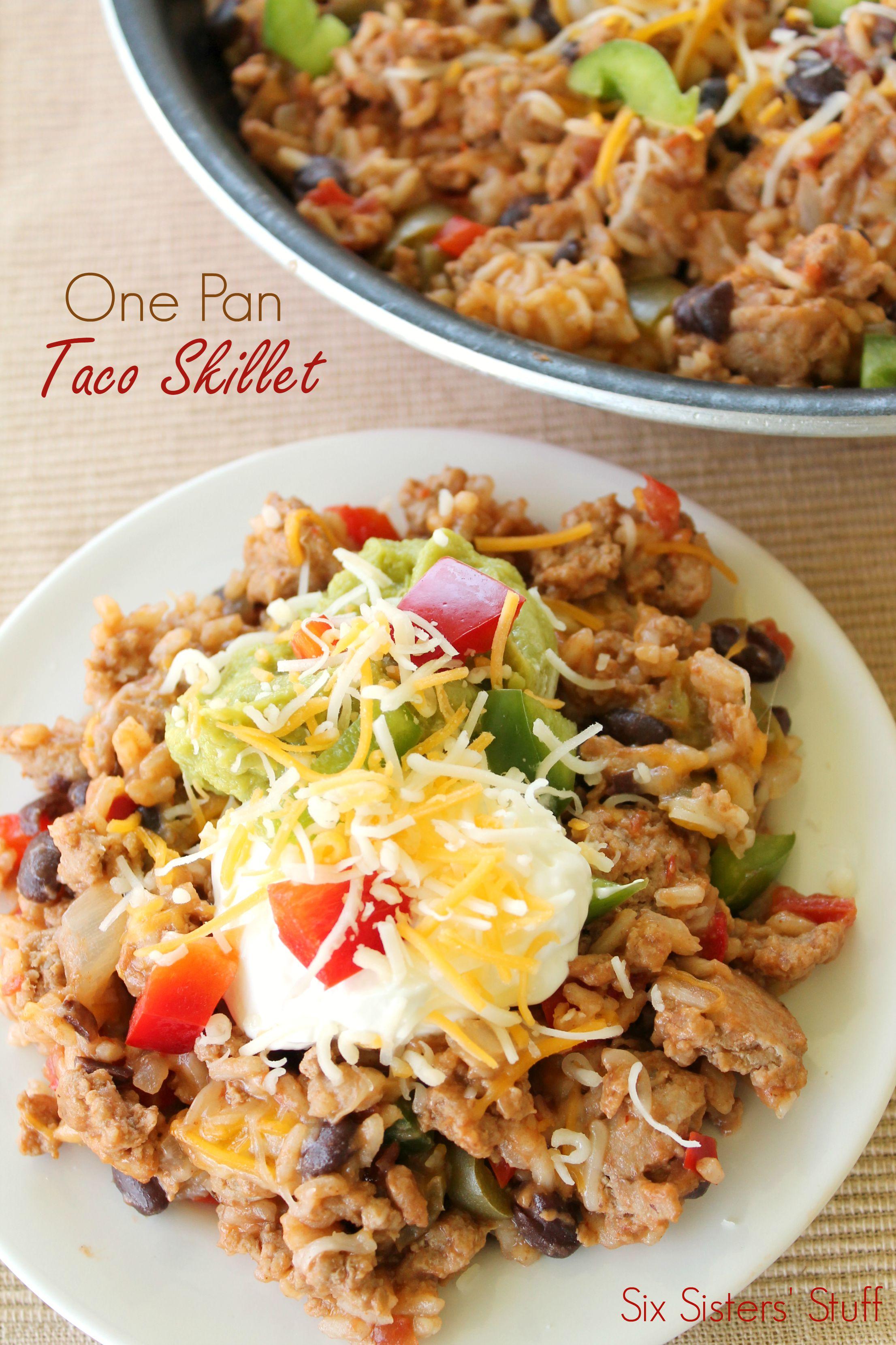 One Pan Taco Skillet